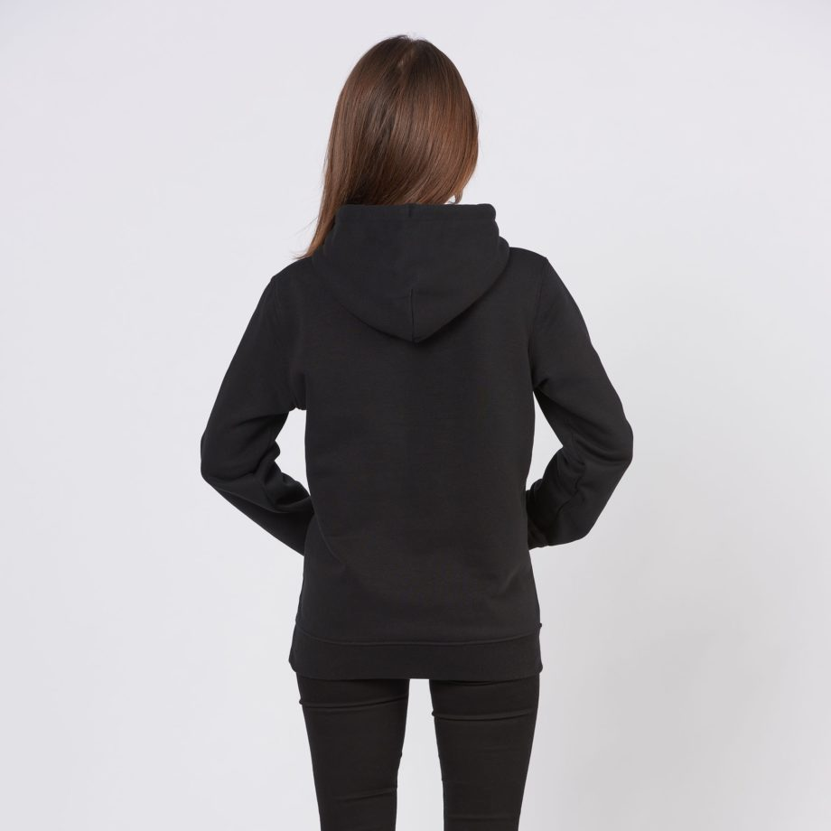 Black Jolly Elephant Hoodie back