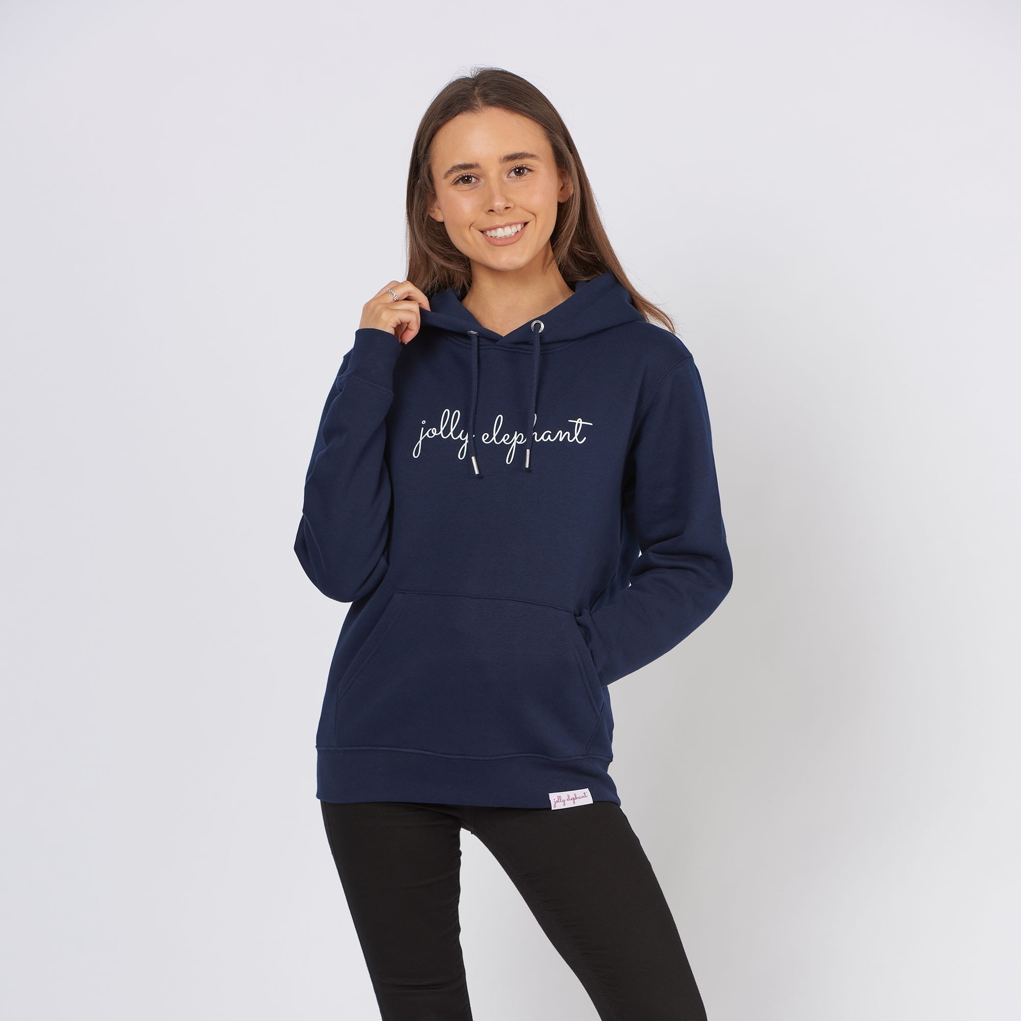 French Navy Jolly Elephant Hoodie
