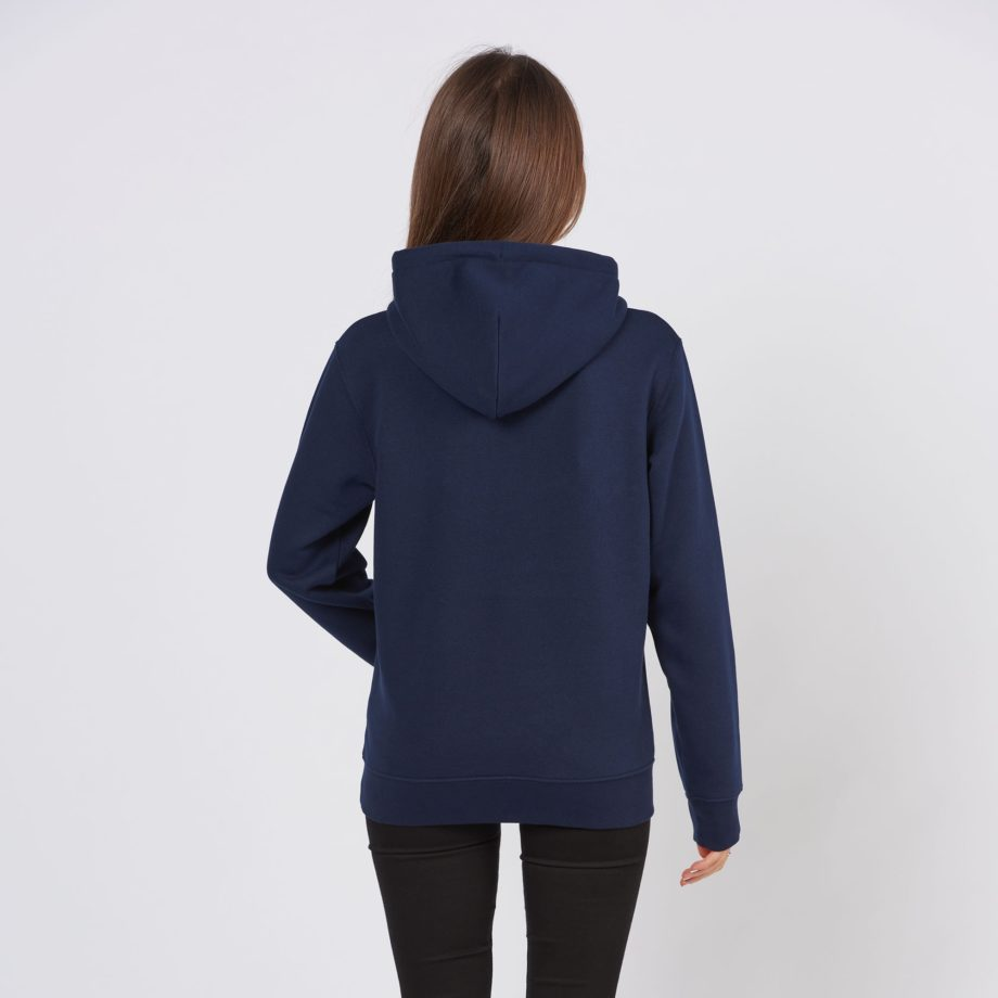 French Navy Jolly Elephant Hoodie back